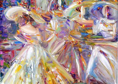 19«Весенний бал » (« Spring dance») 50x50sm