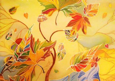 19 «Осень »Батик («Autumn ») Batik 40x60 sm