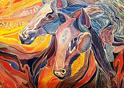2«Лошади» («The horses») 50 x 60 sm