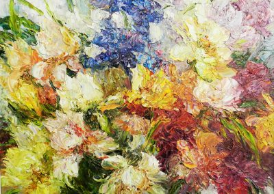 24 «Ирисы » («Irises») 45x50 sm