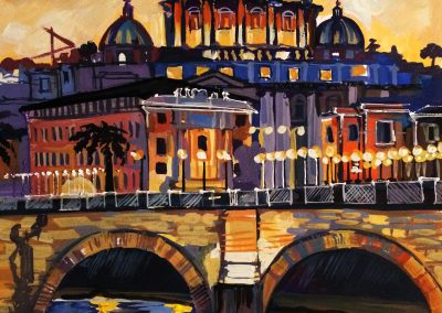 24 «Ночной Рим» («Rome at night») 40x60 sm