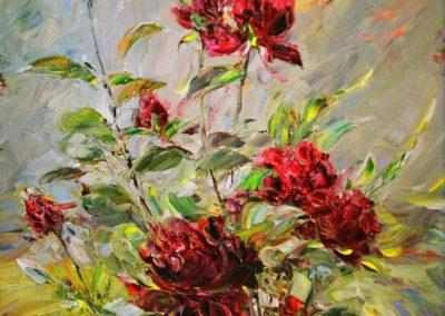 28«Садовые розы» («Garden roses») 40x50 sm