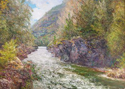 32 «Река Кумир» («The river named Kumir ») 45x60 sm