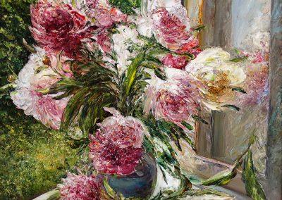 35 «Букет пионов» («Bouquet of peonies») 45x60 sm