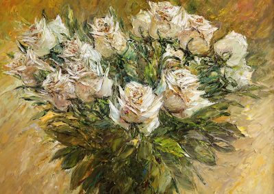 36 «Белые розы» («White roses ») 40x50 sm