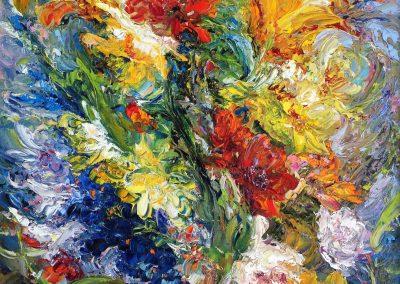 43 «Цветочный фейерверк » («Floral fireworks») 45x60 sm