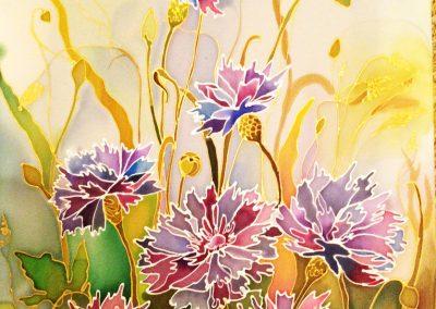 5«Васильки» Батик («Cornflowers»), Batik 30x40 sm