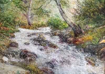 51«Река » («The river») 35x45 sm